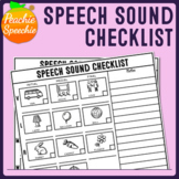 Speech Sound Checklist (No-Prep Articulation Screener)