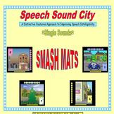Speech Sound City:  SMASH MATS for Individual Sound/Letter Practice