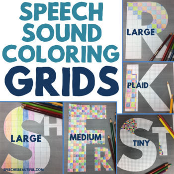 Speech Sound Coloring Grids for Articulation - Engage Older Students!