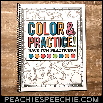 Speech Sound Coloring Pages: Articulation Coloring Book