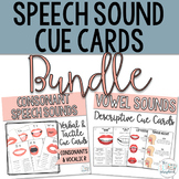 Speech Sound Cue Cards for Articulation- Consonants & Vowels Bundle