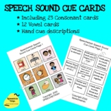 Speech Sound Cue Cards (Consonants and Vowels) with Hand Cue description