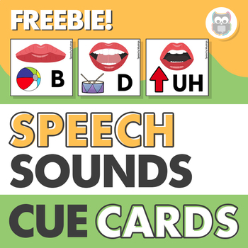 Speech Sound Cue Cards Freebie