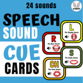 Speech Sound Cue Cards for Quick Articulation Therapy