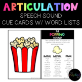 Speech Sound Cue Cards with Visual & Written Cues for Stim