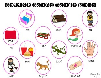Speech Sound Dough Mats for D
