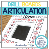 Speech Sound Drill Boards Articulation Speech Therapy