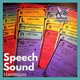 Speech Sound Handouts