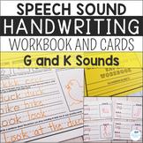 Speech Sound Handwriting Workbooks and Cards - G and K Sound