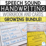 Speech Sound Handwriting Workbooks and Cards - GROWING BUNDLE
