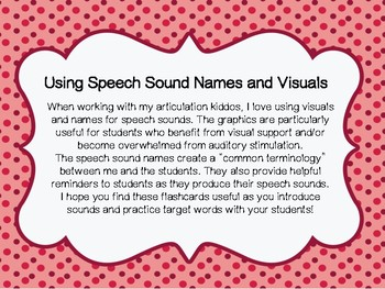 Speech Sound Names and Visuals
