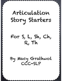 Articulation Story Starters
