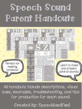 Speech Sound/Articulation Parent Handouts
