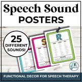 Speech Sound Posters  - Brights