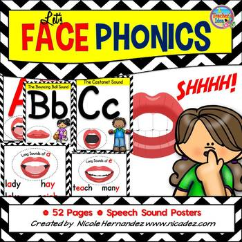 Speech Sound Posters for Literacy Learning- Let's Face Phonics