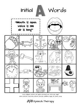 Speech Sound Practice Sheets