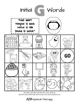 Speech Sound Practice Sheets - Printer Friendly