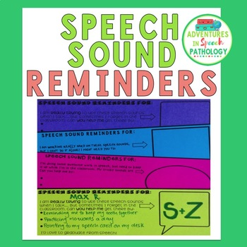 Speech Sound Reminders