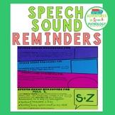 Speech Sound Reminders