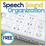 Speech Sound Storage Organization FREEBIE