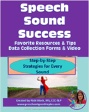 Speech Sound Success - Favorite Resources & Tips - Data Forms & Video