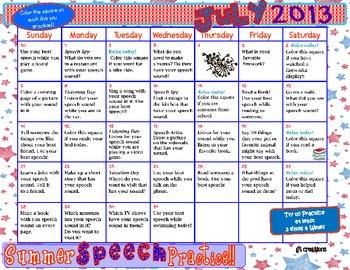 Speech Sound Summer Practice 2013