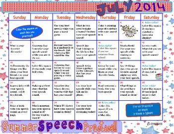 Speech Sound Summer Practice ~ 2014