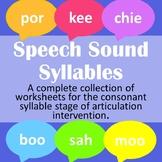 Speech Sound Syllables | Speech Therapy