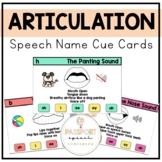 Speech Sound Articulation Visual Cue Cards: Sound Names