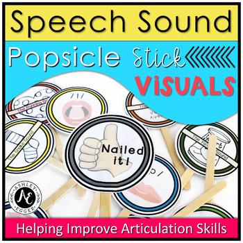 Speech Sound Visual Cue Popsicle Sticks