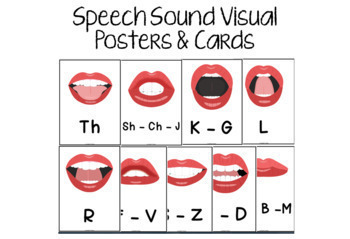 Speech Sound Visuals Bundle - Posters, Cards, & Workbooks