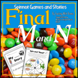 "Speech Sounds: Ending ""M"" and ""N"": M Story/N Story/ Spinner Games"