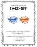 "Speech Sounds Face-Off! Minimal pairs activity for ""th"", f"