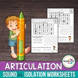 Articulation Sound Worksheet: Sound In Isolation Practice
