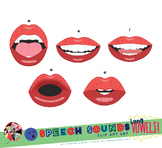 Speech Sounds Mouth Clip Art - LONG VOWELS