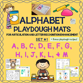 Alphabet Playdough Mats For Articulation & Letter Recognition: Letters A to M