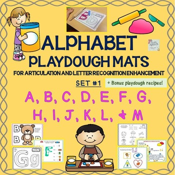 Alphabet Playdough Mats For Articulation & Letter Recognit
