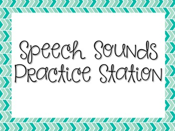 Speech Sounds by Letter: Posters