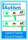 Speech Speed Visual Prompt Autism Special Education