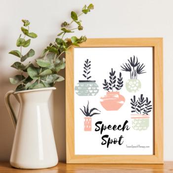 Speech Spot Poster