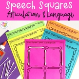 Speech Squares: NO PREP Speech and Language Therapy