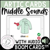 Speech Stacks Middle Sounds Articulation BOOM Cards