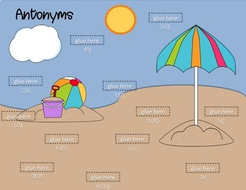 SUMMER Speech Stand Ups: Antonyms, Synonyms, Multiple Meanings