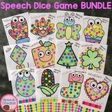 Speech Therapy Sticker Dauber Dice Games BUNDLE articulation language