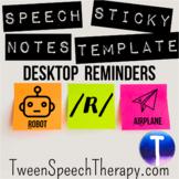 Speech Sticky Notes Desktop Reminders: /R/