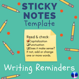 Speech Sticky Notes Template: Writing Reminders