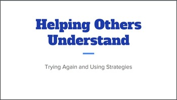 """Speech Strategies and Frustration -Social Narrative: """"Helping Others Understand"""""""