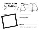 Speech Student of the Week Classroom Award