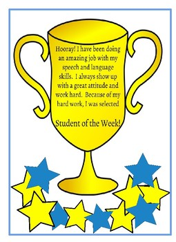 Speech Student of the Week Trophy Award