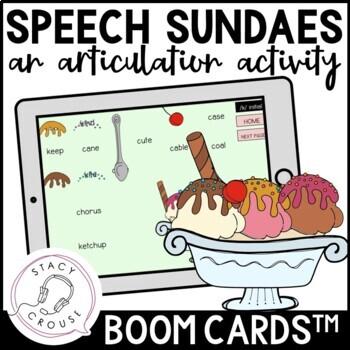 Speech Sundaes: An Articulation Activity BOOM CARDS™
